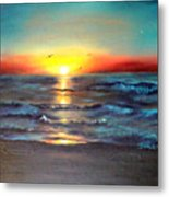 Wedding Sunrise On Indian Harbour Beach Florida Metal Print