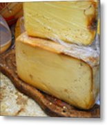 Wedges Of Ripe Cheese Wrapped Metal Print
