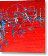 Weeds Abstract Metal Print