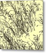 Weeds In Snow Metal Print