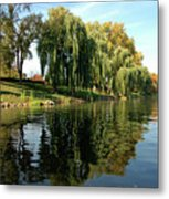 Weepin Willows Frankenmuth Cass River Metal Print