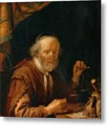 Weighing Gold 1664 Metal Print