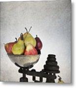 Weighing Pears Metal Print
