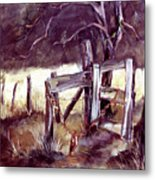 Weighted Gate -feather River Park Metal Print