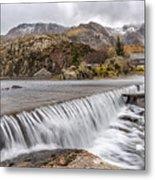 Weirs Rapids Snowdonia Metal Print