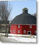 Welch Round Barn Metal Print