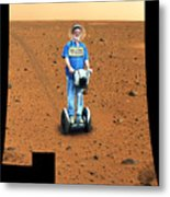 Welcom To Mars Metal Print by Larry Mulvehill