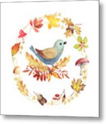 Welcome Back Autumn Metal Print