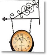 Welcome Clock.11 Am Metal Print