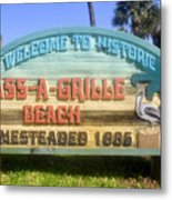 Welcome Sign Metal Print