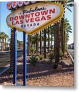 R.i.p. Welcome To Downtown Las Vegas Sign Day Metal Print