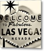 Welcome To Fabulous Las Vegas Nevada Metal Print by Leslie Leda