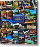 Welcome To Harrison Arkansas Metal Print by Kathy Tarochione
