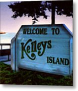 Welcome To Kelleys Island Metal Print