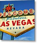 Welcome To Las Vegas Sign Metal Print