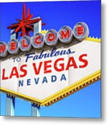 Welcome To Las Vegas Sign Only Boulder Highway Day Metal Print