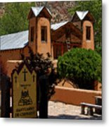 Welcome To Santuario De Chimayo Metal Print