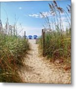 Welcome To The Beach Metal Print