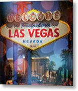 Welcome To Vegas Xii Metal Print