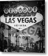 Welcome To Vegas Xiv Metal Print