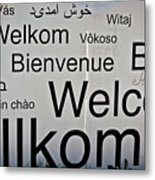 Welcome Wall Metal Print