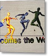Welcomes The World Mural Metal Print