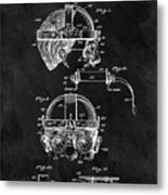 Welding Goggles Patent Metal Print