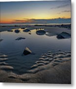 Wells Beach Solitude Metal Print