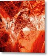 Wells Cathedral Gargoyles Color Negative H Metal Print