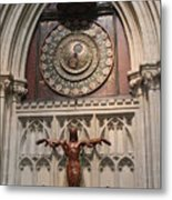 Wells Cathedral Geocentric Clock Metal Print