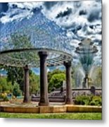 Wellspring Fountain - Council Bluffs Iowa Metal Print