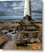 Welsh Lighthouse  Metal Print by Adrian Evans