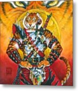 Werecat Warrior Metal Print