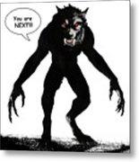 Werewolf Comic Illustration 1 Metal Print
