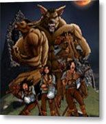 Werewolf Transformation Metal Print
