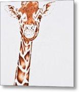 West African Giraffe Metal Print
