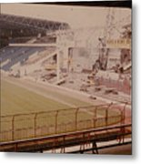 West Bromwich Albion - The Hawthorns - Halfords Lane West Stand 2 - Construction - 1980 Metal Print