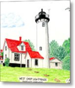 West Chop Lighthouse Metal Print by Frederic Kohli