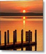 West Dnr Boat Launch July Sunrise Metal Print