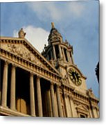 West Front Of St.paul's Cathedral, London Metal Print