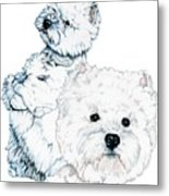 West Highland White Terriers Metal Print