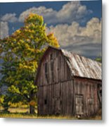 West Michigan Barn In Autumn Metal Print