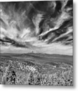 West Of Crater Lake B W Metal Print