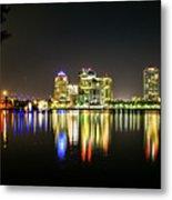 West Palm Beach Downtown Panoramic Metal Print