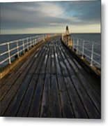 West Pier, Whitby, England Metal Print
