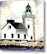 West Pierhead Lighthouse Metal Print
