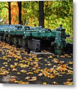 West Point Fall Leaves Metal Print