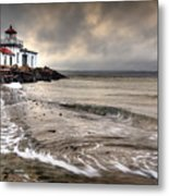 West Point Light House Metal Print