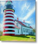 West Quaddy Head Lighthouse Metal Print