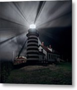 West Quoddy Head Lighthouse History And Facts Metal Print